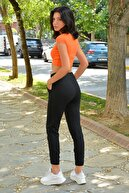 Mossta Kadın Siyah Beli Lastikli Eşofman Altı