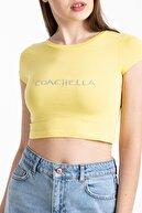 Mossta Kadın Sarı Coachella Basic Crop