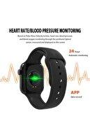 JUNGLEE Akıllı Saat Nabız Ölçer Bluetooth Bileklik Spor Adımsayar X7 Siyah