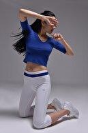 bilcee Mavi Kadın Yoga T-Shırt GS-8105