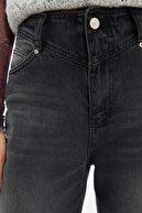 TRENDYOLMİLLA Siyah Bel Detaylı Yüksek Bel 90's Wide Leg Jeans TWOSS21JE0385