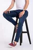 Mutlu City Erkek Mavi Slim Fit Likralı Jean Kot Pantolon 1121