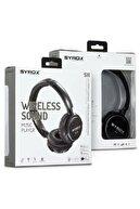 Syrox Bluetooth Kulaklık Aux / Microsd Card S16 - Siyah