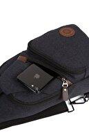 Av A Dos Unisex Kanvas Usb Kulaklık Çıkışlı Çapraz Askılı Bel Omuz Çanta Göğüs Bodybag