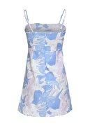 Quzu Askılı Mini Elbise Lila