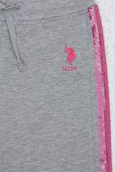 US Polo Assn Grı Kız Çocuk Eşofman Altı