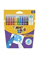 Bic Kids Magic Silinebilir Keçeli Boya Kalemi 12`li Kutu