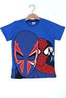 Cansın Mini Erkek Çocuk Mavi Baskı 4-12 Yaş T-shirt 0059-3