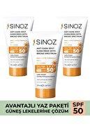Sinoz Leke Karşıtı Güneş Kremi Avantaj Seti SPF 50+ (3 x 50 ml)