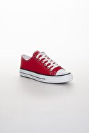 Odal Shoes Unisex Kırmızı Ortopedik Şeritli Sneakers Cnvrs3579746