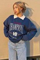 Madmext Kadın  Mavi Sweatshirt