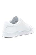 GRADA Kadın Sade Beyaz Hakiki Deri Hafif Taban Sneaker Ayakkabı