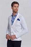 Hemington Italyan Pamuk Beyaz Triko Yazlık Ceket