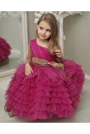 Magu Kız Çocuk Mor Prenses Elbise Abiye