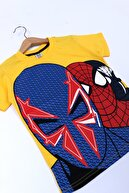 Cansın Mini Erkek Çocuk Sarı Baskı 4-12 Yaş T-shirt 0059-2