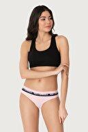 Cottonhill Pembe Basic Spor Kalın Lastikli Pamuk Kadın Bikini Külot