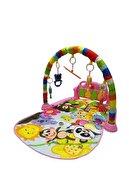 BabyLondy Piyanolu Bebek Oyun Halısı Eğitici Oyuncak Pembe Ekonomik Model