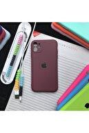 SUPPO Iphone 11 Kamera Korumalı Model, Logolu Lansman Kılıf Ve Kablo Koruyucu Makaron