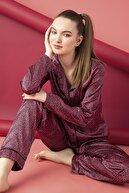 ELİTOL Saten Düğmeli Pijama Takım