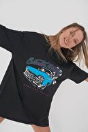 Addax Oversize Baskılı T-shirt P9344 - D8