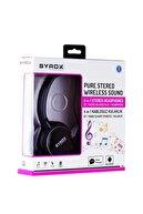 Syrox Kulaküstü Kablosuz Bluetooth Kulaklık Hafıza Kartı Girişli S16 Siyah