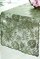 English Home Tropical Örme Tekli Runner 45x150 Cm Yeşil
