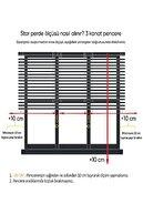 GÜNEŞ PERDE Brillant Çift Mekanizmalı Tül Stor Perde Mt1018  180 X 260 cm