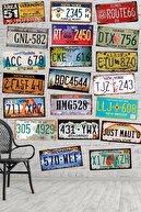 Nes-Art Dekoratif Amerikan Plaka Seti (20 Adet)