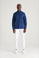 Avva Erkek Lacivert Oxford Düğmeli Yaka Regular Fit Gömlek E002000