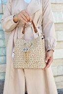 Just Polo Kadın Kum Rengi Çanta Cüzdan Kombini