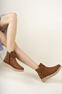 meyra'nın ayakkabıları Kadın Kahverengi Süet Divamod Fashion Bot