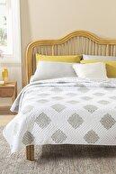 English Home Creative Damask Çift Kişilik Çok Amaçlı Yatak Örtüsü 200x220 Cm Bej