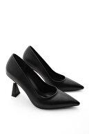 Marjin Kadın Stiletto Topuklu Ayakkabı Estorsiyah