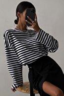 Madmext Kadın Beyaz Sweatshirt Mg980
