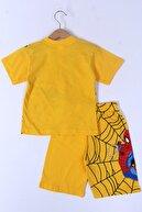 Cansın Mini Erkek Çocuk Sarı Baskı 1-8 Yaş Şortlu Takım 6569-2