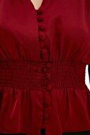 TRENDYOLMİLLA Bordo Gipeli Tall Bluz TWOAW22BZ0628