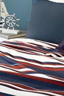 English Home Boho Stripe Baskılı Çift Kişilik Pike 200X220 Cm Lacivert