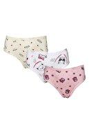 ld lidya underwear Kız Çocuk 3 Lü Renkli Desenli Slip Çocuk Külot 3190