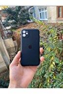 Go Aksesuar Iphone 11 Uyumlu  Logolu Siyah Lansman Içi Kadife Aa Kalite