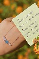 LOTUS GÜMÜŞ Unutma Beni Çiçeği 14 K Rose Altın Kaplama Kadın Kolye