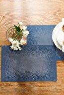 English Home Pollo %70 Polyester %30 Pvc 4'lü Amerikan Servis 30x45 Cm Gri - Indigo