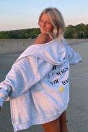 Madmext Mad Girls Karmelanj Kapüşonlu Sırt Baskılı Sweatshirt Mg1195