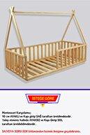 Loolpi Home Montessori Bebek ve Çocuk Karyolası Unisex Doğal Ahşap Yatak