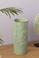English Home Tropical Vazo 12.7x12.7x30.5 Cm Yeşil