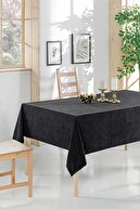 ÖZENEV Siyah Sade Kadifemsi Mutfak Salon Masa Örtüsü  Masa-194  160x220 cm