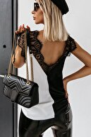 BLACK&GRACE Kadın Siyah-beyaz Motifli Bluz / 41