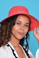 Mossta Kadın Kırmızı Hasır Şapka