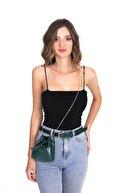 Top All BAG Kadın Yeşil Bel ve Omuz Croco Çanta