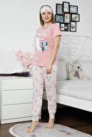 Mossta Kadın Pembe Kısa Kol Pijama Takım