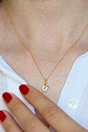 Argentum Concept Ü Harfi Altın Kaplamalı Gümüş Kolye - N159601